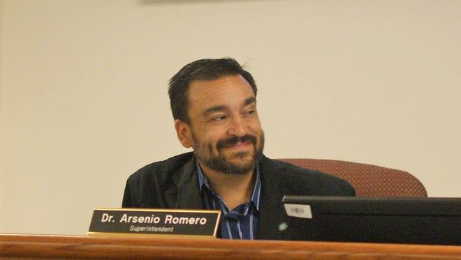 DPS Superintendent Arsenio Romero at the July 20 school board meeting.