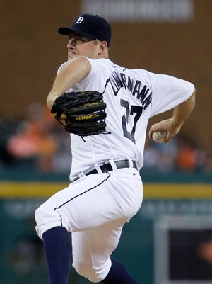 Jordan Zimmermann of the Detroit Tigers pitches against the Baltimore Orioles during the second inning at Comerica Park on September 10, 2016 in Detroit, Michigan.