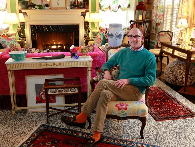 Joseph Pabst relaxes in his newly redecorated living