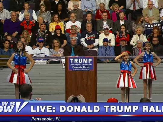 The USA Freedom Kids perform at a Donald Trump rally