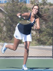 Claudia Herrero was named the MW women's tennis player