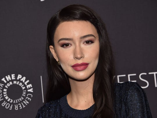 "Actress Christian Serratos arrives for the PaleyFest presentation of AMC's ""The Walking Dead"" at the Dolby theatre in Hollywood."