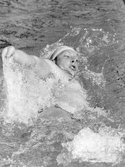 File photo of Bill Barrett during his days as a swimmer