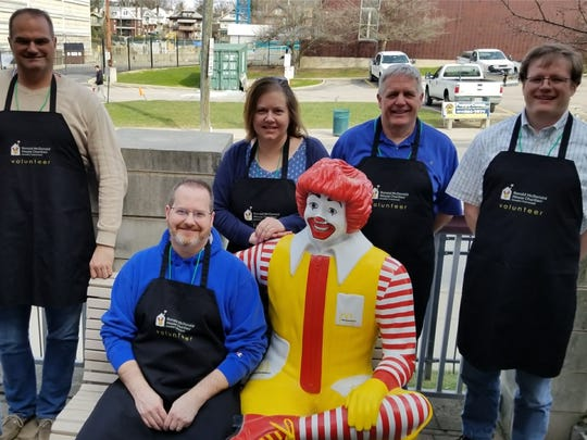 Centric Consulting employees volunteering at the Ronald McDonald House, adjacent to Cincinnati Children's Hospital Medical Center.