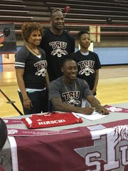 Hirschi's Roman Turner signed with Texas Southern on Tuesday.