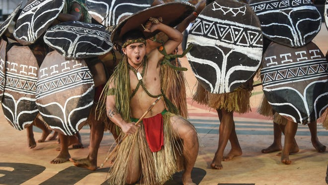 A traditional CHamoru dance at the Festival of Pacific Arts is shown in this May 25, 2016, file photo.