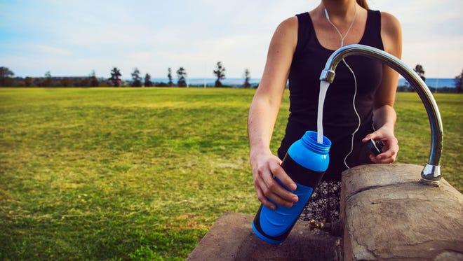 It's a water bottle. But it's a bacteria bottle, too.