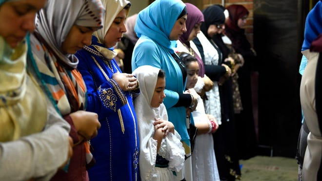 Thousands of North Jersey Muslims attended prayer services on Eid at the Islamic Center of Passaic County on Monday.