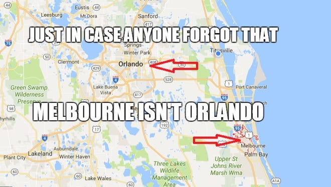 Just in case anyone doubted the fact that Melbourne isn't in fact Orlando.