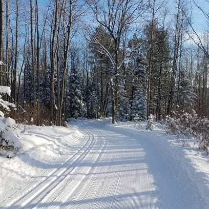 Ski trails are in very good condition at the Brule
