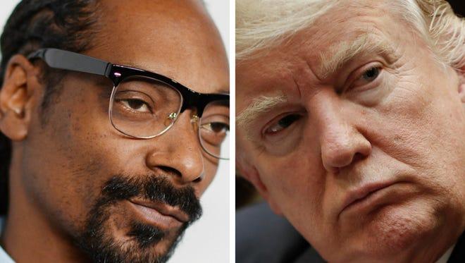 Donald Trump is no friend of Snoop Dogg's.