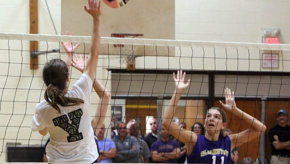 The Clarkstown South High School held their volleyball