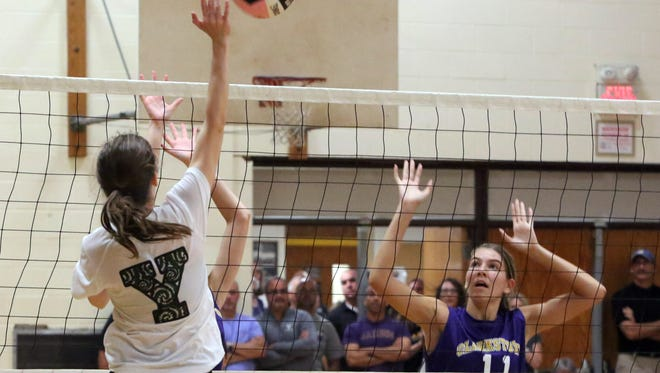 The Clarkstown South High School held their volleyball tournament for area teams at the school, Sept. 26, 2015.