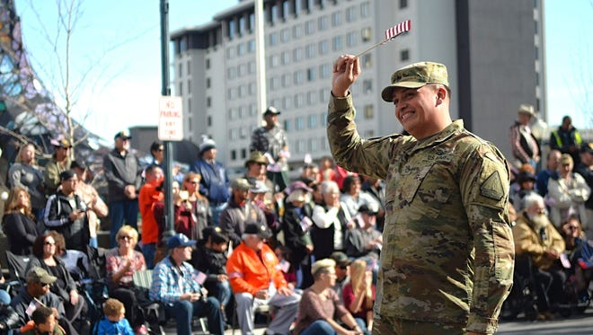 Images taken of the Veterans Day Parade in downtown Reno on Nov. 11, 2017.