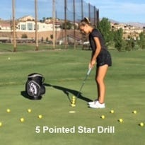The 5 Pointed Star Drill can help increase confidence in putting.