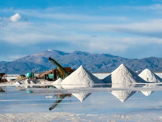 A salt brine in South America.