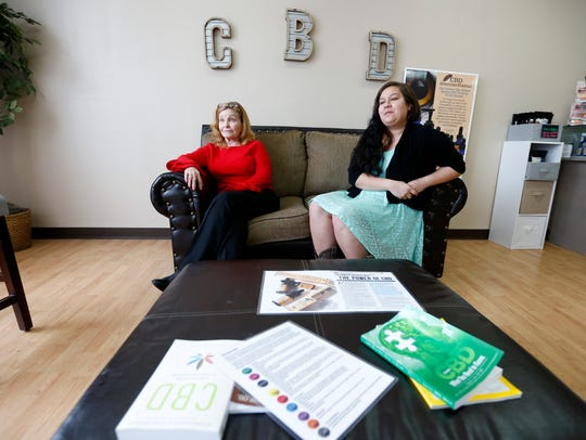 Sharon Wilkinson (left), a sales representative for