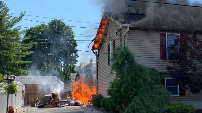 A fire on Miller Street in Hackettstown suffered significant damage from a fire Thursday, July 9.