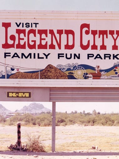Legend City was a theme park that operated between Phoenix and Tempe from 1963 until 1983. It was torn down to make way for Salt River Project corporate offices. This photo was taken around 1969.