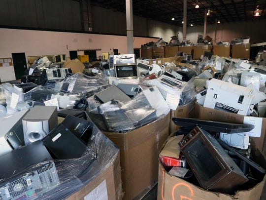 Newtech Recycling Inc.is a cutting edge electronics recycling company  located in Franklin and is photographed on Thursday April 21, 2016.