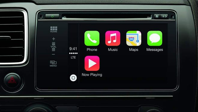You'll need an iPhone to use Apple's CarPlay - Siri for the car - which allows you to use your voice to make calls, hear text messages, access Apple Maps and play music. Initial partners will include Mercedes-Benz, Hyundai, Volvo and Ferrari.