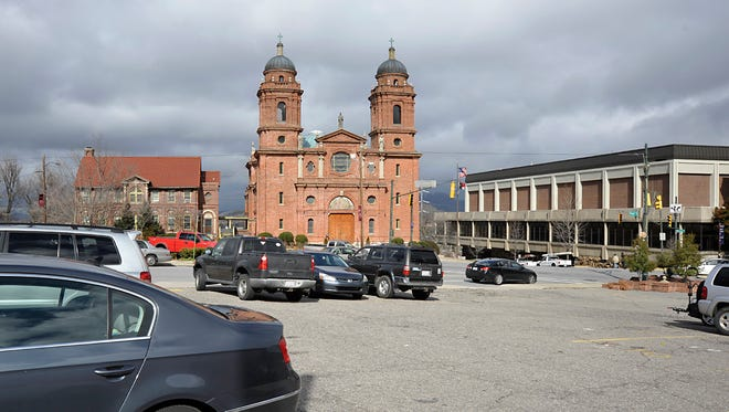 City-owned property across from the Basilica of St. Lawrence and the U.S. Cellular Center is shown in this file photo.