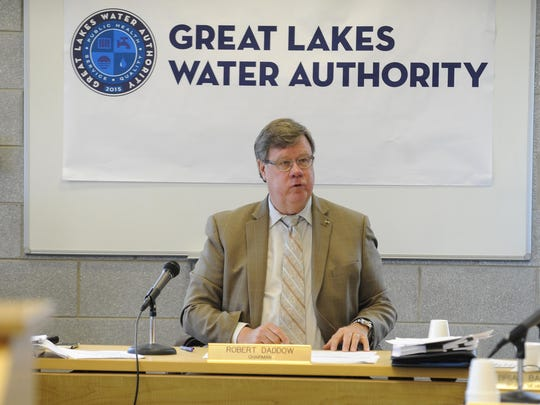 Oakland County Deputy Executive Robert Daddow, the chairman The Great Lakes Water Authority, during Friday's meeting.