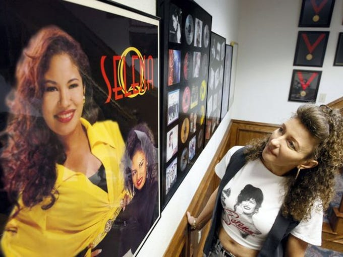 Susan Robinson of Birmingham, England, on Monday tours the Selena Museum, 5410 Leopard St. in 2010.