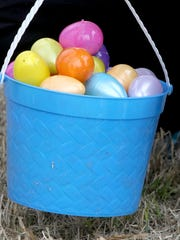 10,000 plastic eggs containing candy and toys were