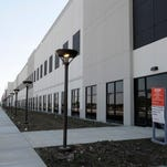 The new Amazon fulfillment center in Etna Township. The company on Monday will begin accepting online applications for positions at the facility.