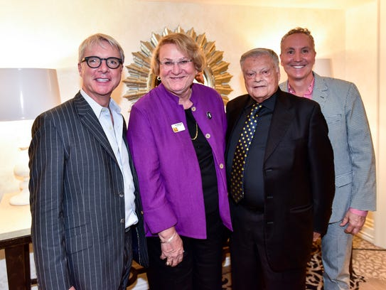 From left to right, Palm Springs Unified School District board member James Williamson, newly elected City Council member Lisa Middleton, Republican political donor Harold Matzner and City Council member Geoff Kors pictured at the Riviera Resort and Spa in October 2017.
