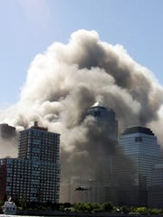 The World Trade Center on September 11, 2001.