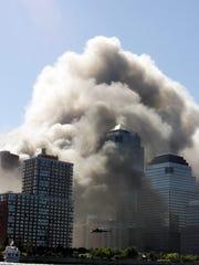 The World Trade Center on September 11, 2001.