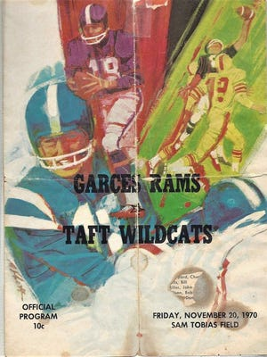 Cover of the program for the 1970 Taft-Garces game