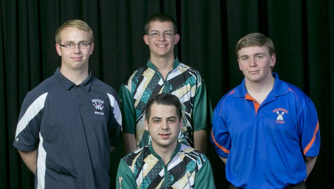 The 2016 All-Shore Boys Bowling Team of Tyler Wolfe, Robbie Guzman, Matt Gibney and Andrew Lazarchick. Not pictured is Justin Malley.
