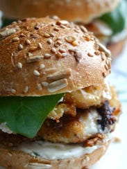 Fried Cheese Sandwich with Garlicky Herb and Lemon