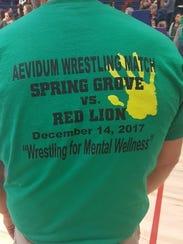 """The Spring Grove wrestling team held a """"Wrestling for Mental Wellness"""" event on Thursday."""