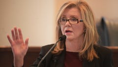 Tennessee Representative Marsha Blackburn won the Republican primary for the U.S. Senate seat being vacated by Senator Bob Corker. She'll face former Governor Phil Bredesen, who won the Democratic primary. (Aug. 3)