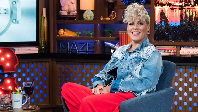 Pink played 'Plead The Fifth' in Andy Cohen's clubhouse on Oct. 19.