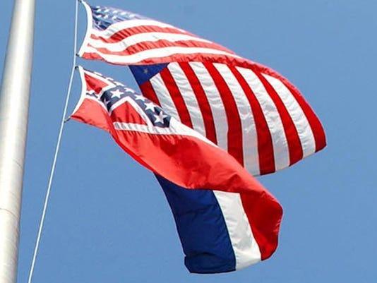 Title: HALF STAFF FLAG
