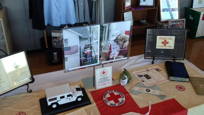 A display at the Red Cross Real Heros Breakfast.