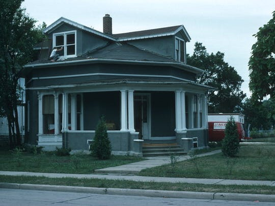 Fond du Lac's historic octagon house on Linden Street, just west of Main Street. Built in 1858, its future is in question at present.
