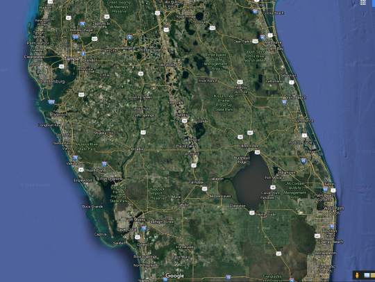 Google map of Florida