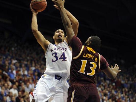 NCAA Basketball: Iona at Kansas