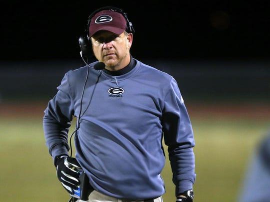 Eagleville football coach Steve Carson led his team