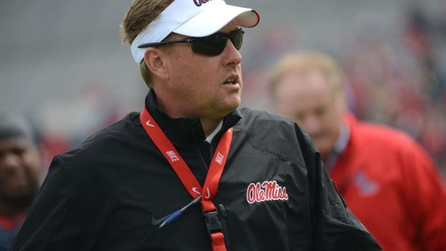 Ole Miss' Hugh Freeze is paired with Alabama coach Nick Saban in the Chick-fil-A Bowl Golf Challenge.