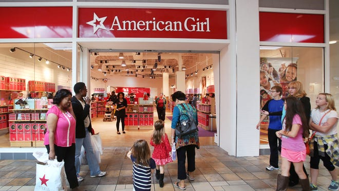 The American Girl store is shown at  Castleton Square Mall in Indianapolis, during its soft opening on Oct. 23, 2015. The Indianapolis store, a temporary holiday store offering a section of dolls, books and accessories, will have its grand opening on Saturday and Sunday and will be open until January 2016.