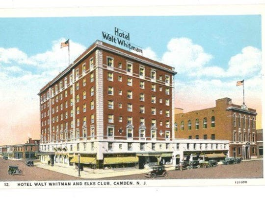 The Walt Whitman Hotel in Camden City, which lasted from 1925 to 1977.