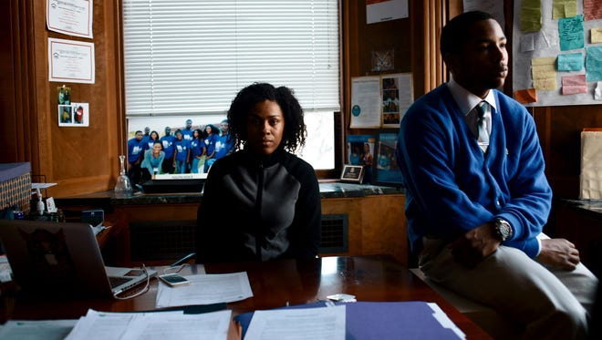 Kayla Mason, 26, and Michael Reynolds, 16, of Youth Voice, which encourages young people to develop leadership skills and impact their communities, hope to change rules that suspend or expel kids for minor offenses.