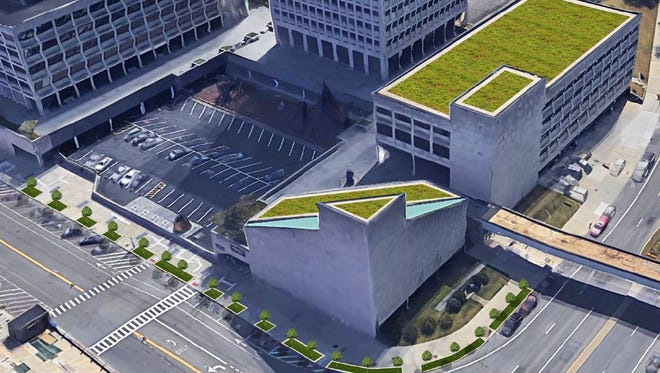 Mayor Richard David announced a proposal to install a green roof on top of city hall.